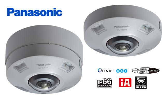 IP-камеры Panasoniс WV-X4571L и WV-X4571LM с объективом «рыбий глаз»