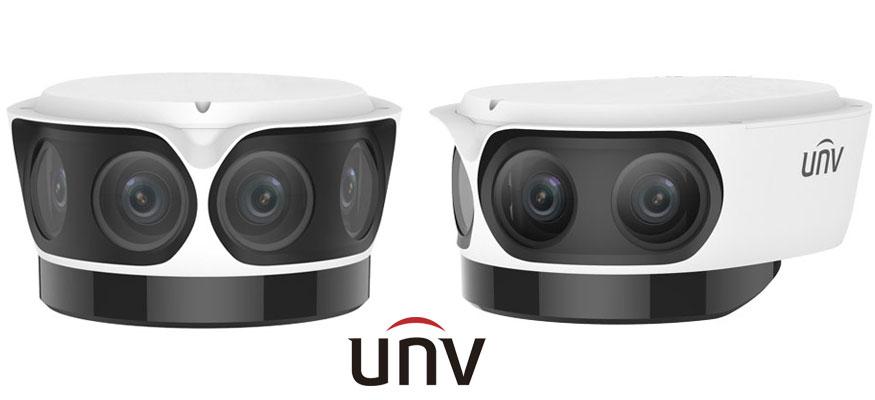 Четырёхсенсорная камера видеонаблюдения UNV IPC8542ER5-DUG с 180-градусным обзором сцены